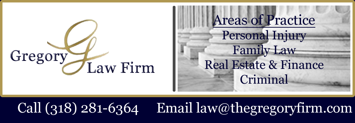 Gregory Law Firm, Monroe, Ouachita Parish, Northeast Louisiana